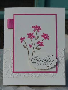 Close as a Birthday Wish using Stampin Up Close as a Memory