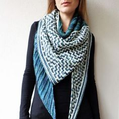 Walk in the Woods pattern by Lisa Hannes | malabrigo Rios in Aguas and Natural