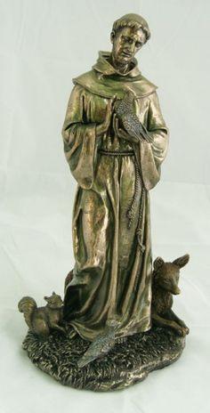"St. Francis Statue - 12""H - Bronze"