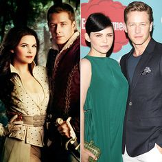 How sweet is this: not only do Ginnifer Goodwin and Josh Dallas play a romantic-sounding couple on TV (Snow White and Prince Charming), but they're in love in real life, too — and they're engaged and have a baby on the way! What a fairy-tale ending. Source: ABC, Getty