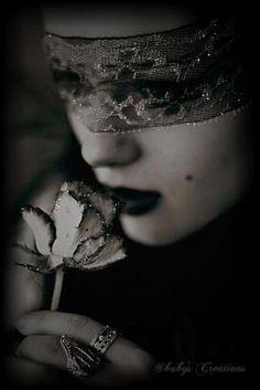 dark and gothic beauty | gothic, dark, rose, dark beauty, dark art, darkness