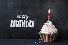 Black Happy Birthday Background