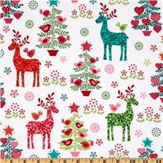 "Michael Miller Nordic Holiday Nordic Holiday Multi // $9 per yard // 44"" wide Quilting Weight"