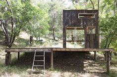 The finished project Mason St. Peter's cabin in Topanga Canyon