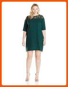 29659f2c467 BB Dakota Women s Plus-Size Hugo Lace Yoke Heavy Crepe Dress