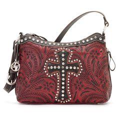 9170269 American West Women's Annie's Secret Purse - Crimson