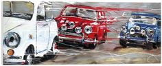 Artist: Paul Kenton Title: Red, White And Blue Medium: Giclee Boxed Canvas Edition Copies: 95 Image Size: 60 x 24 Finish: Ready To Hang Register Interest Paul Kenton, Blue Canvas, Amazing Art, Antique Cars, Red And White, Art Prints, Year 9, Artwork, Image