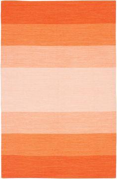 area rug : Panoptic Stripe Rug, Naval Orange   Lulu and Georgia