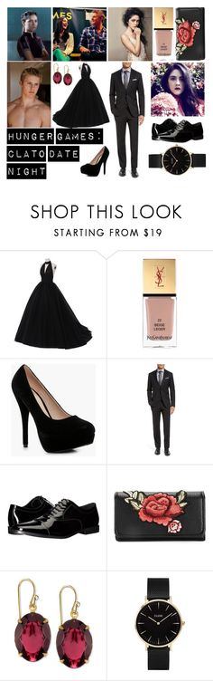 """requested// hunger games: clato"" by zomxbiee ❤ liked on Polyvore featuring Yves Saint Laurent, Boohoo, Ted Baker, Calvin Klein, 2028 and CLUSE"