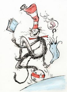 Cat in the Hat by Skottie Young