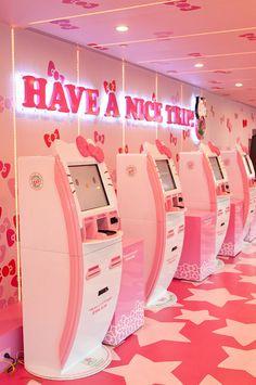 Hello Kitty kiosks at Taoyaun International Airport, Taiwan