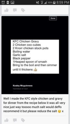 Slimming world - kfc gravy