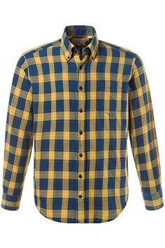3fb8202d947 JP1880 Men s Big   Tall Yellow Highlight Plaid Shirt 706520