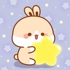 Cute Bunny Cartoon, Cute Kawaii Animals, Kawaii Cat, Funny Bunnies, Simple Iphone Wallpaper, Cute Wallpaper Backgrounds, Cute Wallpapers, Romantic Couples Photography, Party Logo