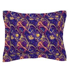 ASTROLOGY ZODIAC MARBLE 7 purple gold on Sebright by paysmage | Roostery Home Decor Astrology Zodiac, Purple Gold, Gold Leaf, Pillow Shams, Spoonflower, Duvet Covers, Cotton Fabric, Bedding, Marble