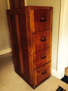 Filing Cabinet 4 Drawer Solid Wood Office File Cabinet 6 Crate ...