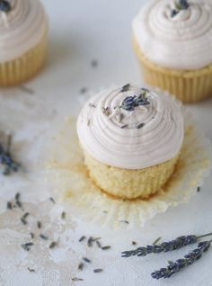 Lavender Cupcakes With Cream Cheese Frosting. 25 Easter Cupcakes That Are Easy and Adorable - PureWow Easter Cupcakes, Baking Cupcakes, Cupcake Recipes, Cupcake Cakes, Dessert Recipes, Gourmet Cupcakes, Poke Cakes, Flower Cupcakes, Christmas Cupcakes