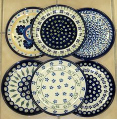 Polish Pottery is so pretty.  Can't wait to go back to Poland for a shopping trip.