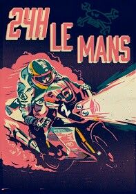 Le Mans, motorcycle art