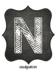 Printable_Chalkboard_ Letter_N