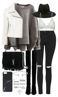 """Untitled #19932"" by florencia95 ❤ liked on Polyvore featuring Topshop, Forever 21, Stuart Weitzman, Yigal AzrouÃ«l, Yves Saint Laurent, Anine Bing, Humble Chic, Native Union and Boohoo"