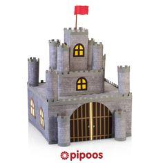 Sinterklaas surprise voor 5 december. Maak dit stoere ridderkasteel. Of gebruik roze en paars voor een echt prinsessen kasteel.
