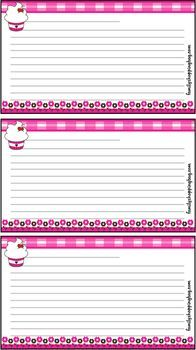 {Free} Printable Cupcake Recipe Cards