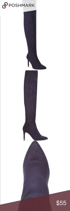 New Rosenman over the knee dress boots Rosenman over the knee dress boots size 7.5 Monaco blue color 3 1/2 inc heel brand new with box and tags. Rosenman Shoes Ankle Boots & Booties