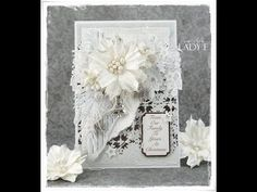 Monochrome Christmas Tutorial Card Wild Orchid Crafts DT - YouTube