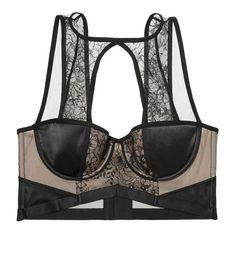 98c6eb7c12 VICTORIA S SECRET VERY SEXY LACE   MESH BALCONET BRA 36DD black lace nude   fashion