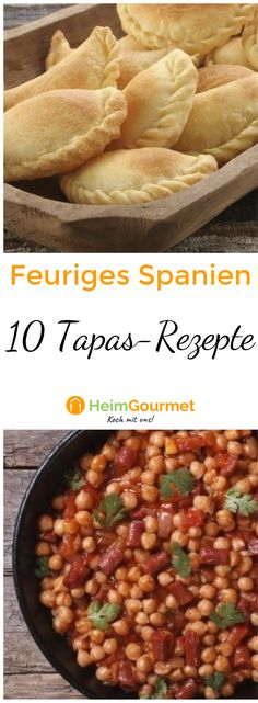 Feuriges Spanien: Die 10 besten Tapas-Rezepte - Fgg We - Tapas Recipes, Italian Recipes, Quick Meals To Cook, Best Tapas, Party Finger Foods, Spanish Food, Spanish Recipes, Recipe Collection, Carne