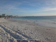 A view of Sarasota's Lido Beach on a quiet winter evening #beach #Florida