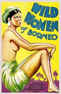 WILD WOMEN OF BORNEO Vintage Movie Poster CANVAS ART PRINT 24x33 in. #Vintage