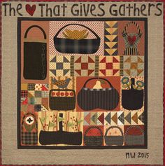 The Gathering Baskets quilt pattern and kit by Norma Whaley, Timeless Tradition Quilts