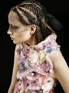 """""""A Lightness of Being"""" Smith Vanders in Chanel Couture for Harper's Bazaar Arabia April 2015"""