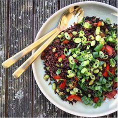 Asian Style Black Rice****** Click for Full Gluten Free Vegan Recipe!******