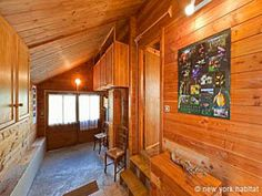 What do you think of the all-wood interiors of this #furnished #vacation #rental in the #French #Alps?