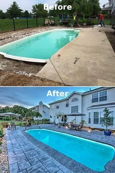 Before & After:  Poolside Makeover! #BetterThanTVMakeovers