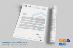 Corporate Letterhead Vol.21 With MS Word DOC/DOCX | Word Doc, Stationery  Printing And Print Templates