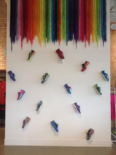 Brooks Sports concept retail store wall display. #runhappy #brooksrunning #stone34