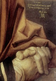 ALBRECHT DURER, Self Portrait, 1498, detail