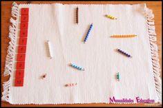 Nombre relation-quantité de perles Montessori - Montessori avec creciend