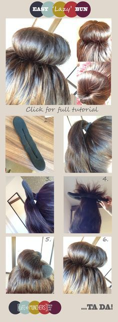 Easy updo for long hair   Easy bun   Bun maker   best stuff. I have this hair thing and was wondering how to work it :)