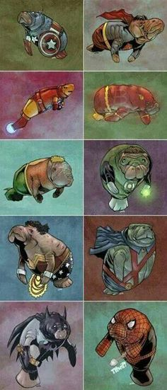Okay I love manatees and the avengers but this might be going too far whoever took the time to make this...