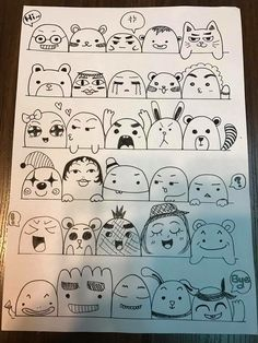 Pin by heavenly impressions on doodles in 2019 рисунок, рисо Emoji Drawings, Kawaii Drawings, Easy Drawings, Cute Doodle Art, Doodle Art Drawing, Kawaii Doodles, Cute Doodles, Vexx Art, Doodle Characters