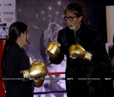 Pics: Sparring partners: Big B, Mary Kom http://movies.ndtv.com/photos/sparring-partners-big-b-mary-kom-16502