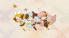 Vocaloid Hatsune Miku Megurine Luka Kagamine Rin Kagamine Len ...