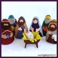 Felt nativity--I'd like to have this finished before next Christmas so the girls can play with it!