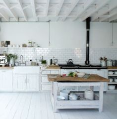 Rustic Scandinavian Kitchen Decorating
