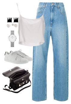 """""""Untitled #4191"""" by magsmccray ❤ liked on Polyvore featuring Jean-Paul Gaultier, Yves Saint Laurent, Proenza Schouler, Daniel Wellington and Witchery"""